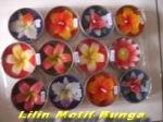 Lilin motif bunga aromaterapi (Min 12 pcs Rp.50.000,-)