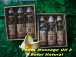Paket massage Oil 3 botol natural Min 12pcs Rp.10.000,-