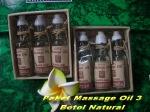 Paket massage Oil 3 botol natural Min 12pcs Rp.10.000,-