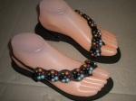 Sandal elastis mutiara hitam