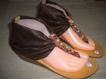 Sandal gladys hak coklat