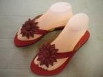 sandal margot kulit merah