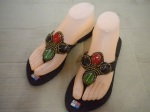 sandal tiara coklat