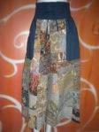 Celana batik combi biru
