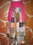 Celana batik combi pink