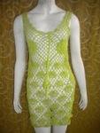 Dress rajutan kipas hijau