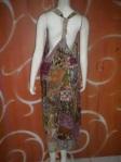 Jumsuit batik anis tampak dari belakang